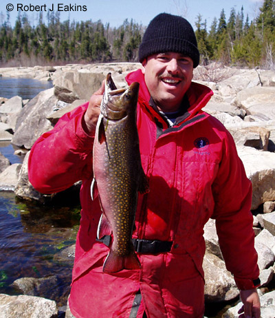 Author and 52.5 cm Brook Trout (released) May 2004